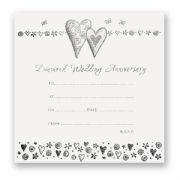 Diamond Wedding Anniversary Invitations - Pack of 10